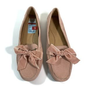 Bayleigh Dusty Rose Driving Flats Moccasins
